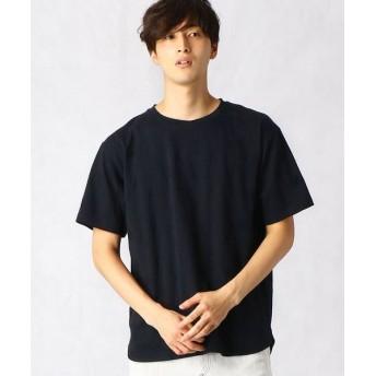 COMME CA MEN/コムサ・メン リンクススター クルーネックTシャツ ネイビー M