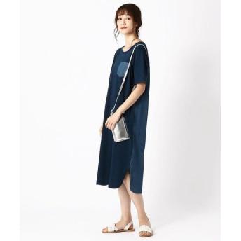 COMME CA ISM/コムサイズム デニム Tシャツ ワンピース ネイビー S