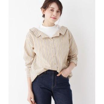 SHOO・LA・RUE/シューラルー フェイクレイヤードシャツ ベージュ(352) 03(L)