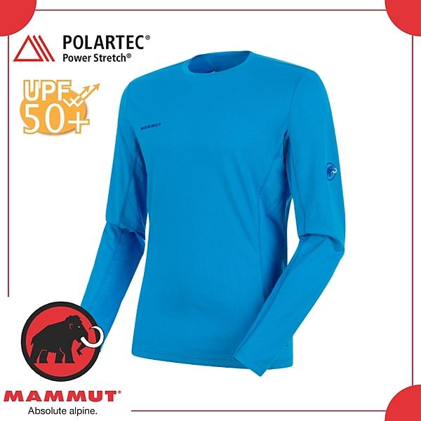 【MAMMUT 瑞士 Sertig LS 男《帝國藍》】1016-00020/保暖上衣/運動/長袖T/彈性