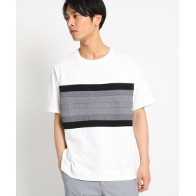 THE SHOP TK/ザ ショップ ティーケー テクニカルボーダーTシャツ オフホワイト(603) 01(S)