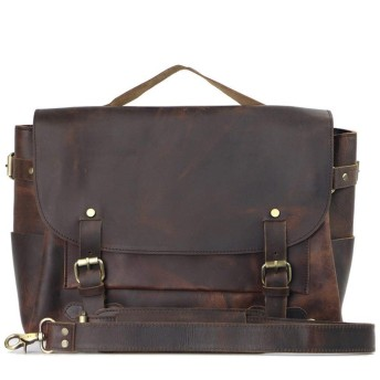 トートバッグ ビジネス フライングバッグ英国のレトロカジュアルブリーフケースクレイジー馬吊り肩の男性のバッグ おしゃれ 日常 (Color : Brown)