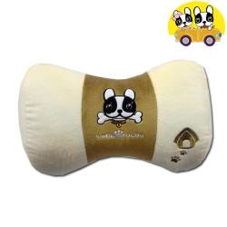 安伯特 法鬥犬蝴蝶枕 車用頸枕 靠枕 辦公室瞌睡枕 沙發靠枕 卡通圖案 透氣 排濕 可拆洗