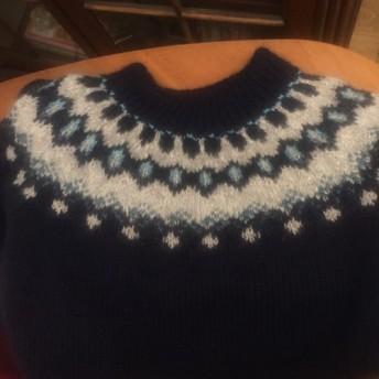 手編みアイルランドロビー風セーター