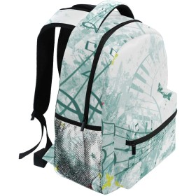MISCERYリュックサック,音楽ポスターデザイン,大容量の学生の子供のバックパックの若者の男性と女性は、ファッション性格カスタムパターン旅行バッグ耐久性のあるスポーツアウトドアを