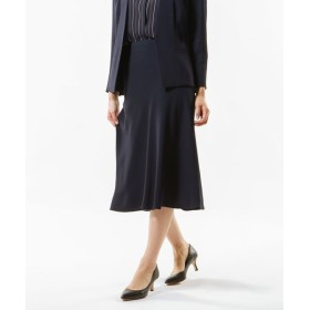 TRANS WORK/トランスワーク 【Sサイズ〜】【セットアップ対応】【美Skirt】【ウォッシャブル】バックサテンジョーゼットスカート ネイビー3 40