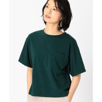 COMME CA ISM/コムサイズム DIC 〜日本の伝統色〜 ポケット付 Tシャツ 鉄色 S