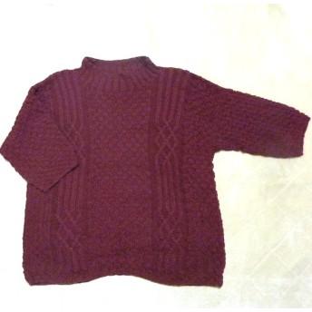 手編みセーター(五分袖)