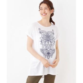 SHOO・LA・RUE/シューラルー 発泡プリントTシャツ アイボリー(004) 99(FREE)