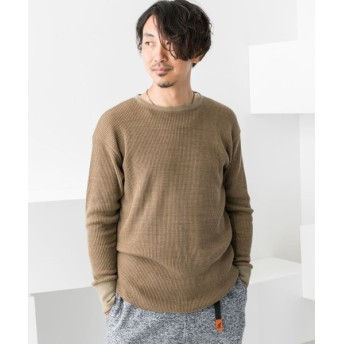 【65%OFF】 アーバンリサーチ アウトレット ワッフルロングTシャツ メンズ カーキ S 【URBAN RESEARCH OUTLET】 【タイムセール開催中】