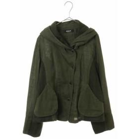 HIROKO BIS/ヒロコビス 【洗える】リネン製品染めフーディジャケット グリーン 11