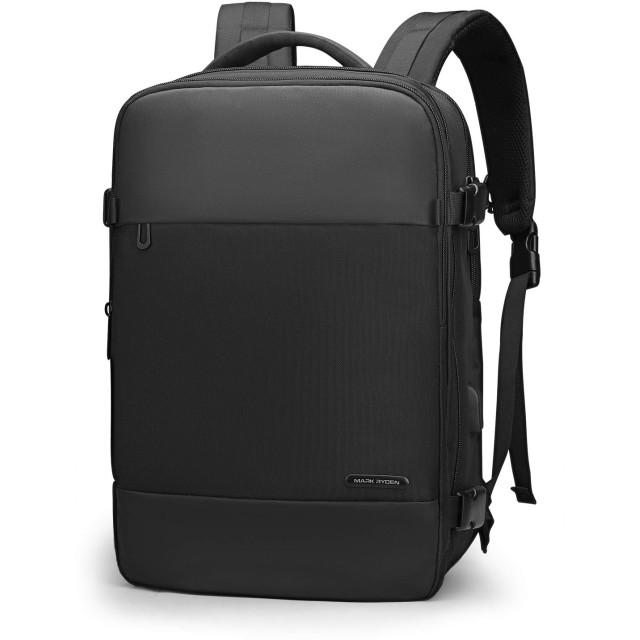 MARK RYDEN ビジネスリュック 靴収納付き バックパックメンズ 乾湿分離ポケット usbポート付き 大容量 15.6インチラップトップ 通勤 通学 出張 旅行 カバン (ブラック)