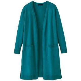【レディース】 洗えるUVロングカーディガン - セシール ■カラー:ブルーグリーン ■サイズ:S,M,L