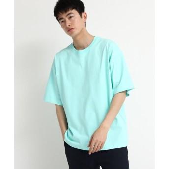 tk. TAKEO KIKUCHI/ティーケー タケオキクチ BIGドロップショルダーTシャツ ライトグリーン(021) 02(M)
