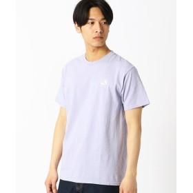 COMME CA ISM/コムサイズム ロゴTシャツ(ONIGIRI) ライラック L