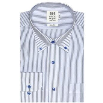 【31%OFF】 トーキョーシャツ ワイシャツ長袖形態安定 ボタンダウン ブルー系 スリム メンズ ブルー S-80 【TOKYO SHIRTS】 【セール開催中】