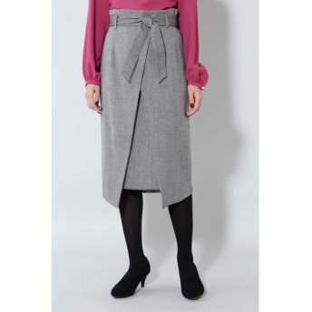 BOSCH/ボッシュ 《B ability》ヘリンボーンスリットラップスカート ブラックヘリンボーン1 36
