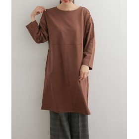 URBAN RESEARCH DOORS/アーバンリサーチ ドアーズ mizuiro-ind boat neck dolman one-piece 別注brown FREE