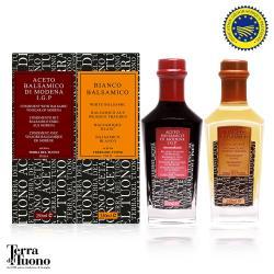 【Terra Del Tuono雷霆之地】義大利百年手工巴薩米克醋組合(白色+陳年/各250ml)