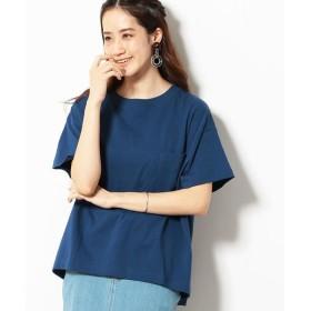 Purple & Yellow/パープルアンドイエロー ショートワイド Tシャツ ブルー S
