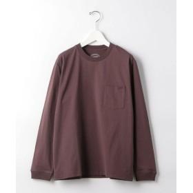 green label relaxing/グリーンレーベル リラクシング SC ヘビーウェイト クルー 長袖 Tシャツ WINE S