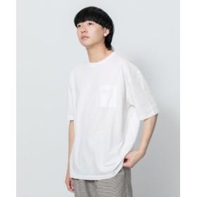 SENSE OF PLACE by URBAN RESEARCH/センスオブプレイス バイ アーバンリサーチ フレンチリネンTシャツ(半袖) WHITE L