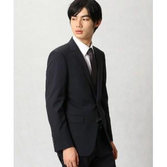 COMME CA MEN/コムサ・メン ポリスト小紋ドビー セットアップジャケット ネイビー XL
