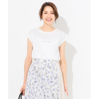 L size ONWARD(大きいサイズ)/エルサイズオンワード バックプリントロゴ Tシャツ ホワイト系 3
