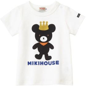 MIKI HOUSE/ミキハウス キングくん半袖Tシャツ 白 110