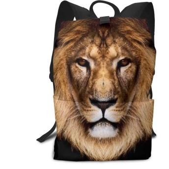 バックパックリュックサックラップトップバッグ 大容量 カジュアルバッグ すさまじいライオン 旅行バッグ 通学用