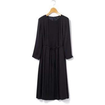 KEITH Lサイズ/キースエルサイズ サテンジョーゼット ドレス ネイビー 42