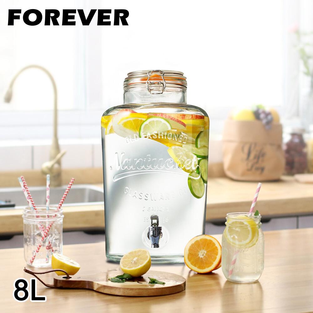 日本forever派對專用玻璃果汁飲料桶8l