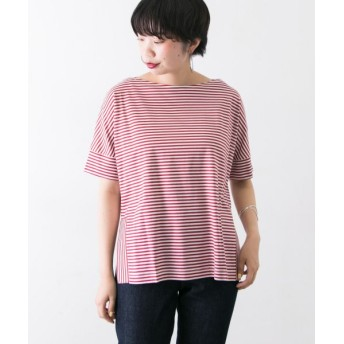 URBAN RESEARCH/アーバンリサーチ ボーダー切替Tシャツ(半袖) OFF×RED FREE