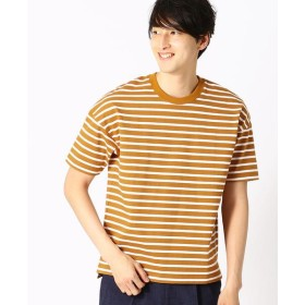 COMME CA ISM/コムサイズム ボーダー Tシャツ イエロー M