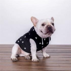 秋と冬の新しい犬服小型犬パーカーセーター印刷ペット服フレンチブルドッグ