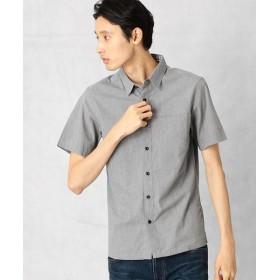 COMME CA MEN/コムサ・メン トップブロード半袖シャツ グレー S