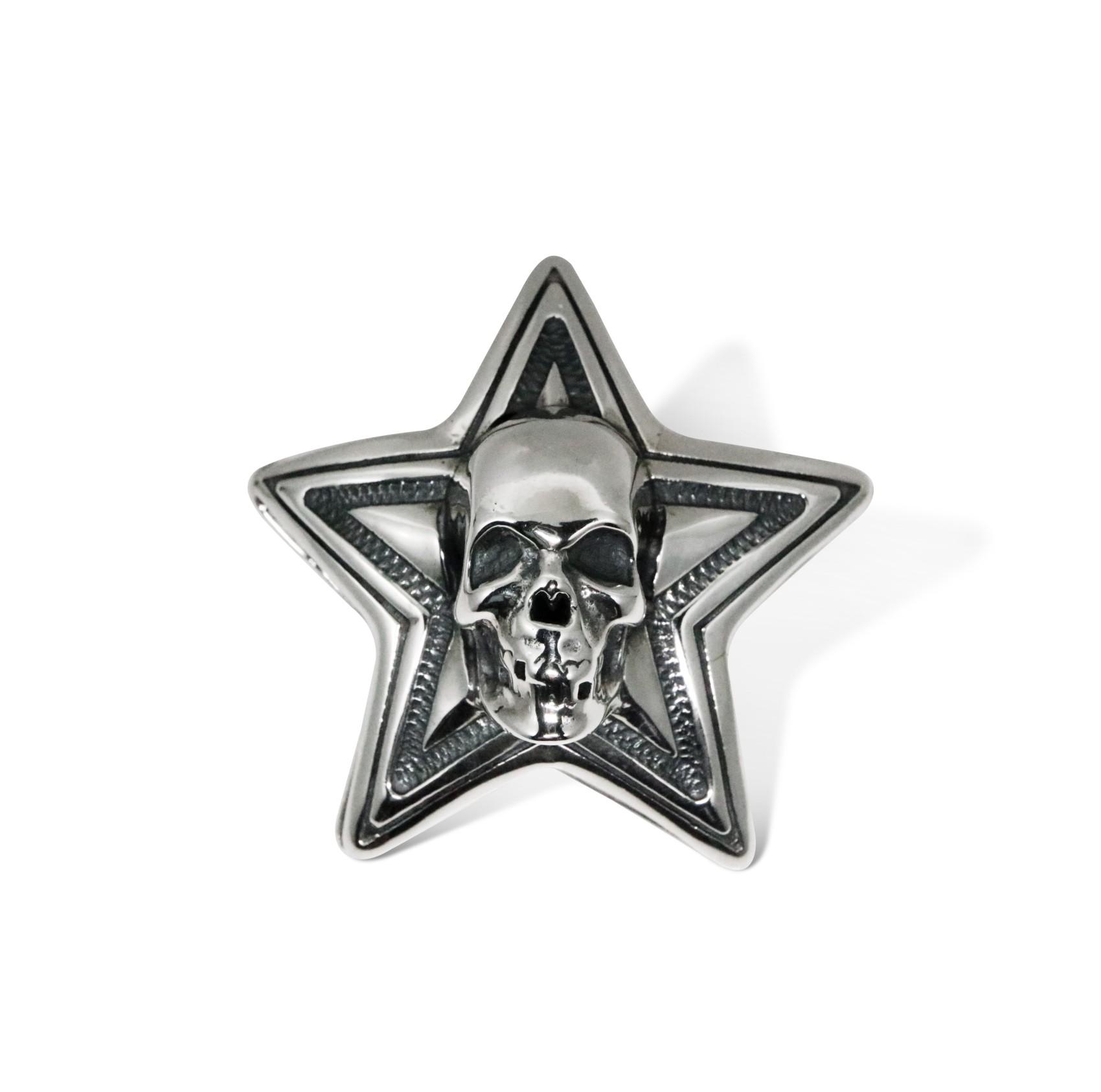 DOUBLE FACE SKULL STAR PENDANT  [USD $1650]