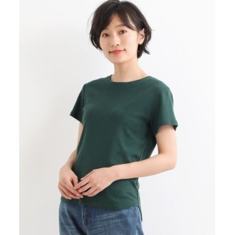NIMES/ニーム コーマフライス裾テール半袖Tee グリーン フリー