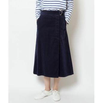 NIMES/ニーム Corduroyラップ風スカート ネイビー 0