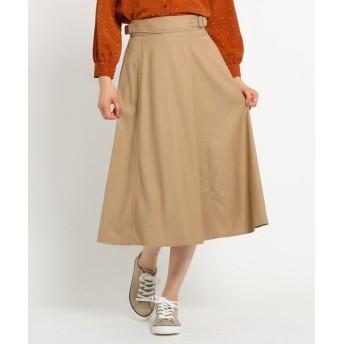 Dessin/デッサン 【Sサイズあり、洗える】ストレッチギャバ ベルトスカート サンドベージュ(053) 02(M)