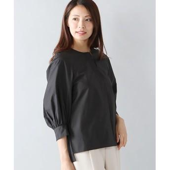 ANAYI/アナイ タイプライタークルーネックシャツ ブラック 38