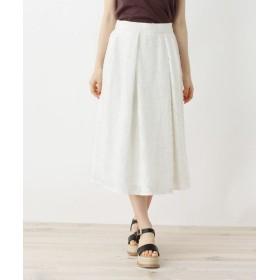 OPAQUE. CLIP/オペーク ドット クリップ 【洗える】フラワーカットジャカードスカート オフホワイト(003) 40(L)