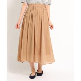 Dessin/デッサン 【洗える】キュプラコットンボイルスカート ベージュ(052) 02(M)