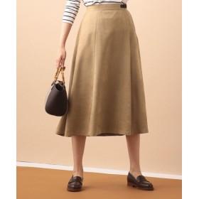 L size ONWARD(大きいサイズ)/エルサイズオンワード ディアーナスエード スカート キャメル系 T13