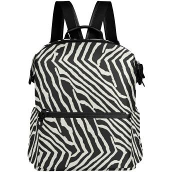 (fohoo) リュックサック レディース メンズ おしゃれ 幾何学模様 ゼブラ柄 黒白 バッグ 人気高校生 大容量 通学 通勤 出張 旅行 プレゼント