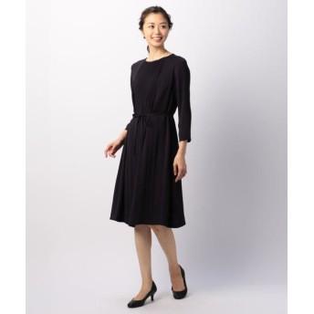 KEITH/キース サテンジョーゼット ドレス ネイビー 38