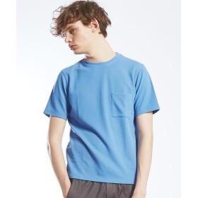 ABAHOUSE/アバハウス 鹿の子Wフェイス 半袖Tシャツ サックス 48