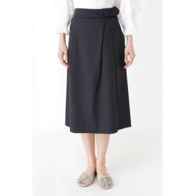 HUMAN WOMAN/ヒューマンウーマン ◆スラブサテンタンブラースカート ネイビー S