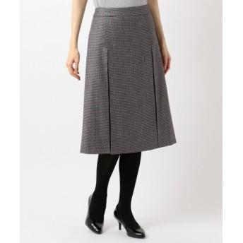 S size ONWARD(小さいサイズ)/エスサイズオンワード ELANガンクラブチェック スカート グレー系3 S3
