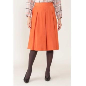 NATURAL BEAUTY/ナチュラルビューティー エルモザスエードボックスプリーツスカート オレンジ 36